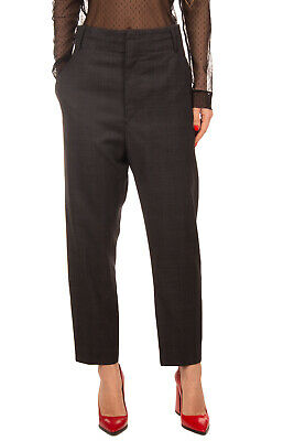 ISABEL MARANT ETOILE Virgin Wool Tailored Trousers Size 42 Prince of Wales