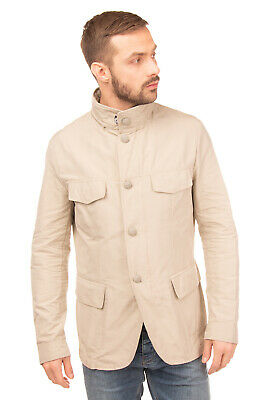 RRP €425 AQUARAMA Safari Jacket Size 54 2XL Partly Lined Textured Made in Italy