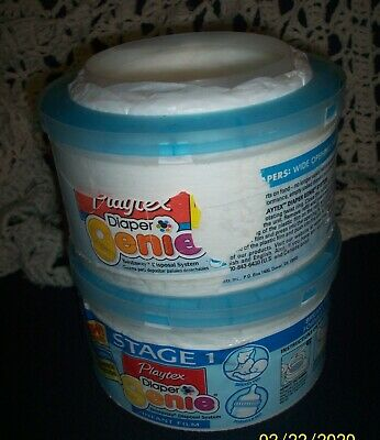 Playtex Diaper Genie Refill, Lot. Stage 1 Older Model, Thicker, 2 canisters