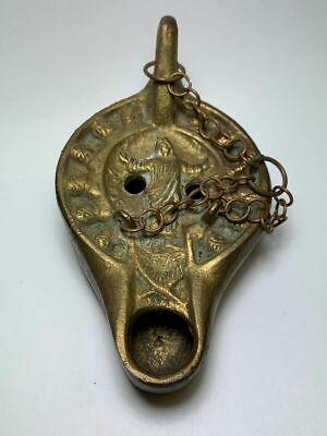 Antique Brass Religious Oil Lamp