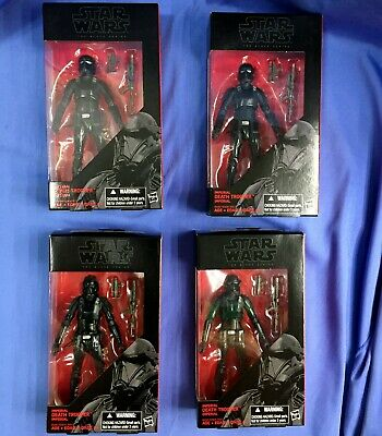 "Star Wars The Black Series IMPERIAL DEATH TROOPER 6"" Set of FOUR (4) #25"
