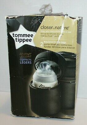 Tommee Tippee Insulated Bottle Bag 2pk *Open Damaged Packaging