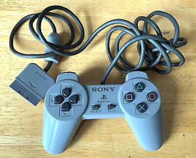Sony Ps1 Controller Genuine Official Grey Scph-1080 Playstation 1 Psx