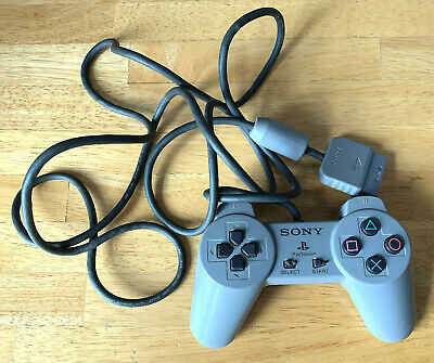 Sony Ps1 Controller Genuine Official Grey Scph-1080 Playstation 1 Psx.