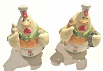 New Le Gourmet Chicken Animal salt and pepper shakers Cute