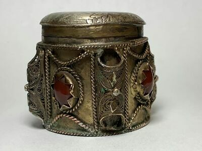 Antique Chinese Horse Filigree Snuff / Pill box