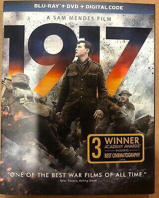 1917 (Blu-ray + DVD + Digital Code) W/Slipcover Brand New FAST Free Shipping