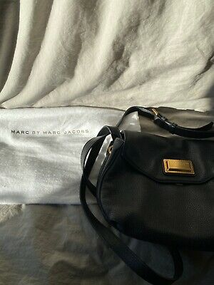 Marc By Marc Jacobs Black Pebbled Leather Shoulder / Crossbody