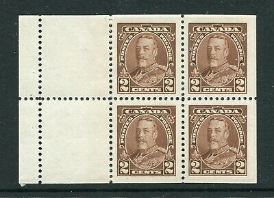 CANADA Scott 218a - LH - 2¢ Brown George V Pictorial Booklet Pane of 4 (.062)