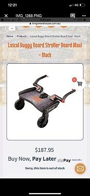 Lascal Buggy Board Toddler Travel Skate Board Stand