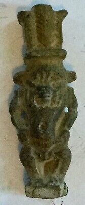 Ancient Egyptian God Bes Amulet - Authentic Ancient