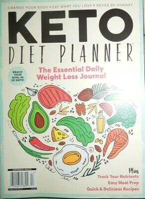 KETO DIET PLANNER essential daily weight loss journal MEAL PREP never be hungry