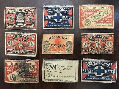 Vintage Matchbox Labels Made In Norway