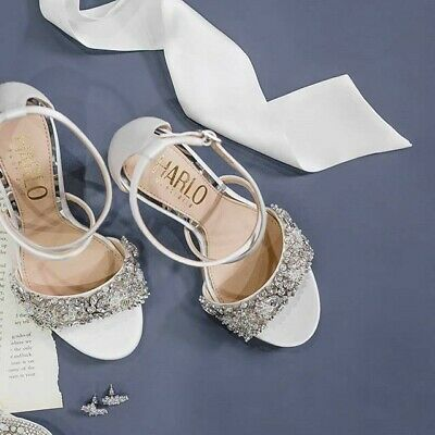 Wedding Shoes, Harlo Australia, Size 8.5, Satin with crystals and beads