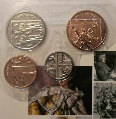 2020 SHIELD COINS ONE 1p TWO 2P FIVE 5p TEN 10P PENCE BRILLIANT UNCIRCULATED SET
