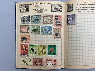 OLD and VERY WELL FILLED stamp album with around 1900 stamps *unpicked*