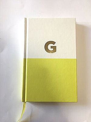 "KATE SPADE NEW YORK Gold Foil Initial ""G"" Dipped Notebook Journal"