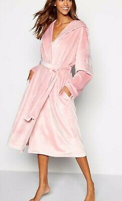 BNWT B by Ted Baker Pink Soft Feel Long Dressing Gown 8-10 BRAND NEW