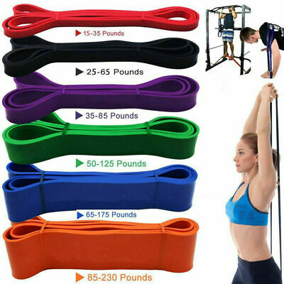Natural Latex Loop Resistance Bands Pull Up Assist Band Exercise Gym Fitness -