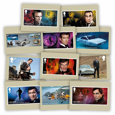 Brand New Sealed Royal Mail James Bond 2020 Stamp Card Pack (11 Cards in Pack)
