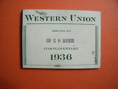 1936 Western Union Telegraph Frank Book 8 Stamps Unused