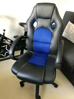 Racing Chair Sport Swivel PU Leather Mesh Gaming Desk Executive Office Chair