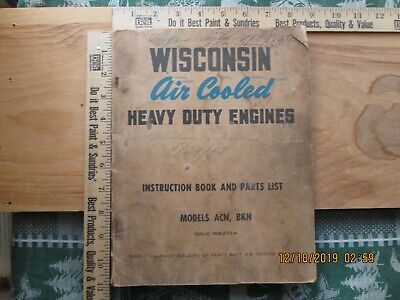 Wisconsin Air Cooled Heavy Duty Engines Model ACN ,BKN
