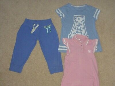 NEXT Girls 8 years sports jogging bottoms and t shirt bundle