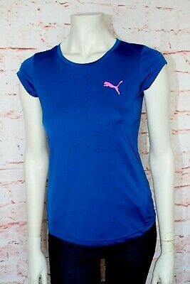 Neu ❤️ PUMA ❤️Sport & Fitness T-Shirt Top Kurzarm * 152 * royal blau pink ❤️
