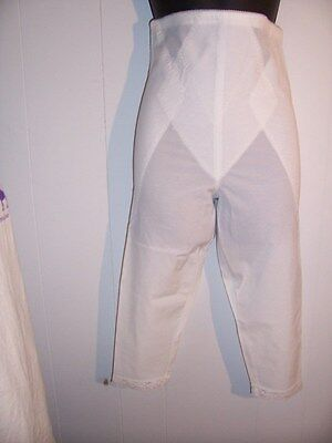 Adonna Nylon panties NWOT panty underwear shaper girdle sz 32 XL white legs