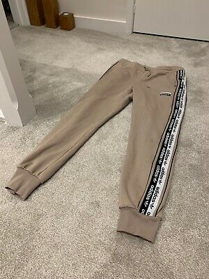 Adidas Originals Tape Poly Joggers Beige Ash Brown 13-14 years fits 8 10 BNWT