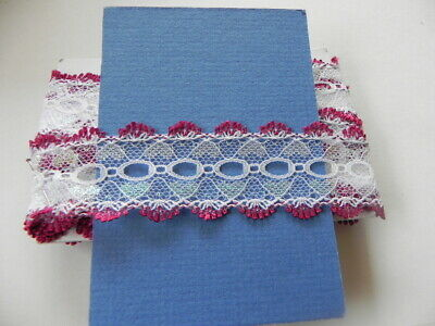 Card of New Knitting Lace -  Burgundy and White