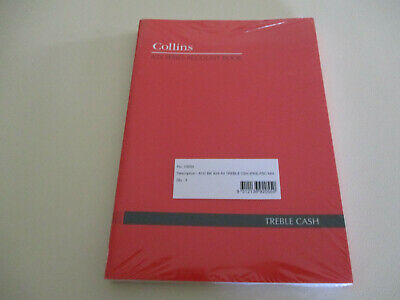 NEW - Collins Treble Cash book x 5 - sealed pack of 5