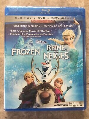 Disney Frozen Original BluRay & DVD Canada Bilingual NO DC LOOK