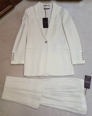 NWT Auth Gucci off-white bootcut pant trouser suit size IT 40 US 4 retail >$3100