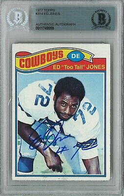 11749960 - Ed Too Tall Jones 76 Signed 2001 Topps Archives Trading Card BAS