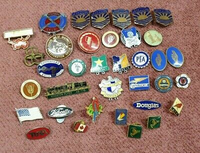Vintage Badges Speedway Kingston Flyer Albion Telecom Ducati Mixed Lot Of 36