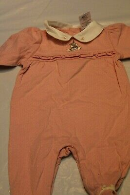 New Disney Embroidered Bambi's Thumper Pink Romper or Sleeper Girls 3 month