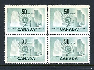CANADA Scott 334 - NH - BLK of 4 - 50¢ Textile Industry (.006)