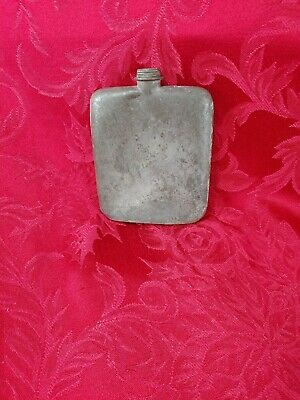 Vintage England Small Metal Flask