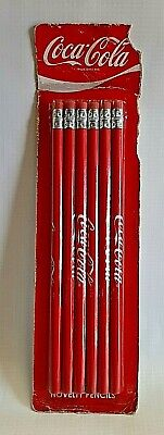 Collectible 2009 Coca Cola Novelty Pencils Set of 6 Pre-Owned But NEW IN PACK !!