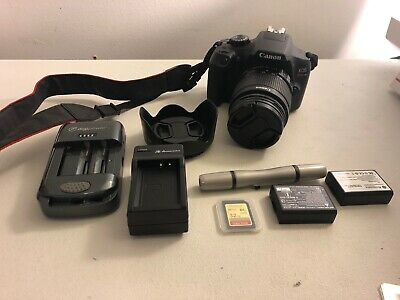 Canon EOS Rebel T6 18.0MP Digital DSLR Camera with 18-55 mm Lens Battery SD Card