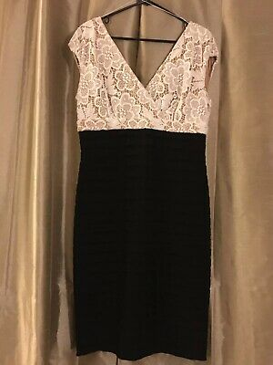 Adrianna Papell Womens Petite Sleeveless Lace Top Size 14 P