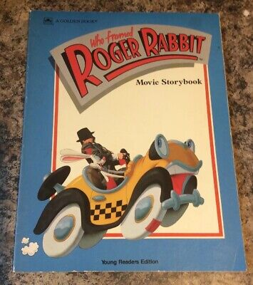 Who Framed ROGER RABBIT Movie Storybook 1988 A Golden Book - Walt Disney - Acme