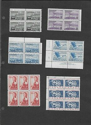 Canada 25 different blocks from 1951 to 1967, MNH VF