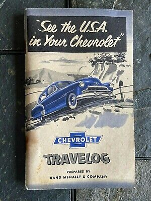 Vintage Chevrolet Travelog 1950 Rand Mcnally & Co Booklet Item #4402-15