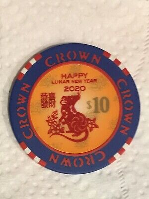 Crown Melbourne Lunar New Year of the Rat 2020 $10 Chip
