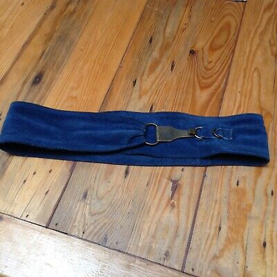 Vintage Blue Suede Belt