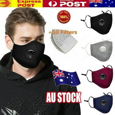 Anti Air Pollution Face Mask Respirator & 2 Filters P2 Washable Adjustable