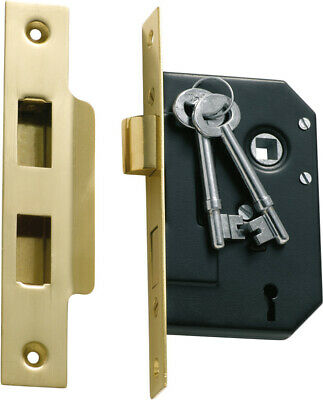 Tradco 1131 1130 3 lever mortice lock,polished brass,57 or 44 mm backset
